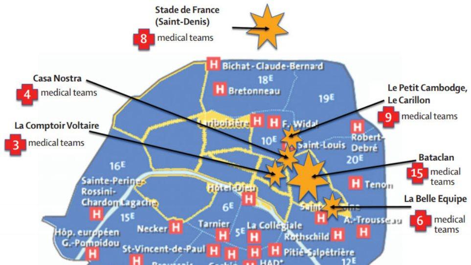 Η ιατρική απάντηση στο πολλαπλό τρομοκρατικό χτύπημα στο Παρίσι