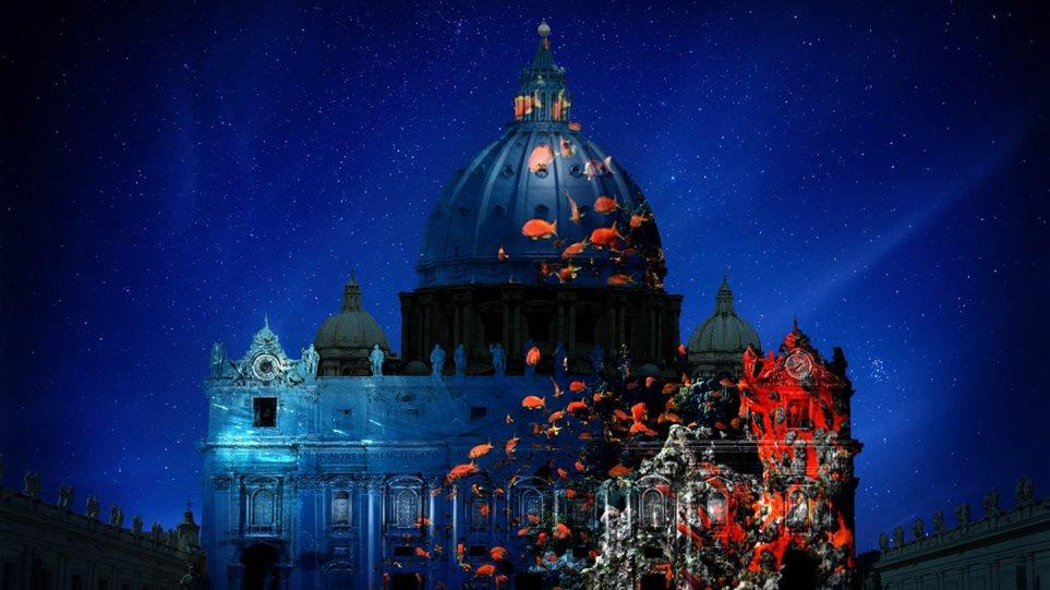 Βατικανό: «Πανόραμα» σπάνιων ζώων στην όψη του Αγίου Πέτρου