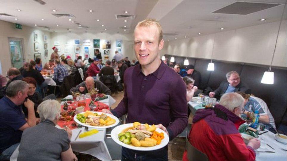 Ποδοσφαιριστής της Έβερτον δώρισε ένα γεύμα στους αστέγους της Γλασκώβης