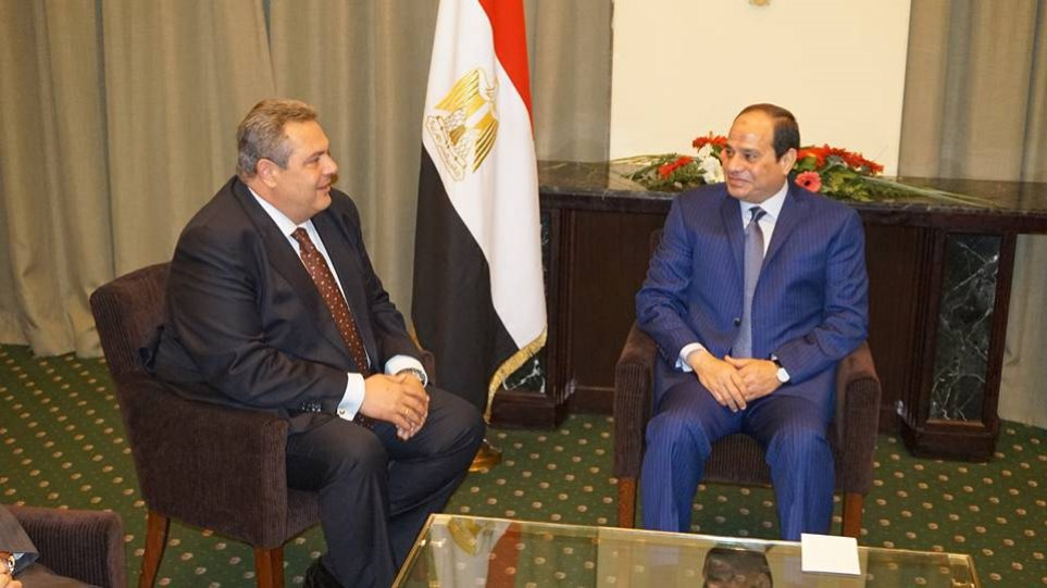 Καμμένος: Σημαντική η ανάπτυξη των διμερών σχέσεων Ελλάδας - Αιγύπτου