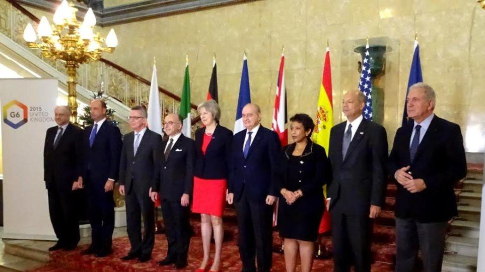 Ο Αβραμόπουλος συμμετείχε στη σύνοδο των υπουργών Εσωτερικών G6 για την τρομοκρατία