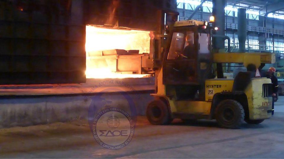 Έκαψαν 225 δέματα κατασχεμένων ναρκωτικών σε εργοστάσιο στη Βοιωτία