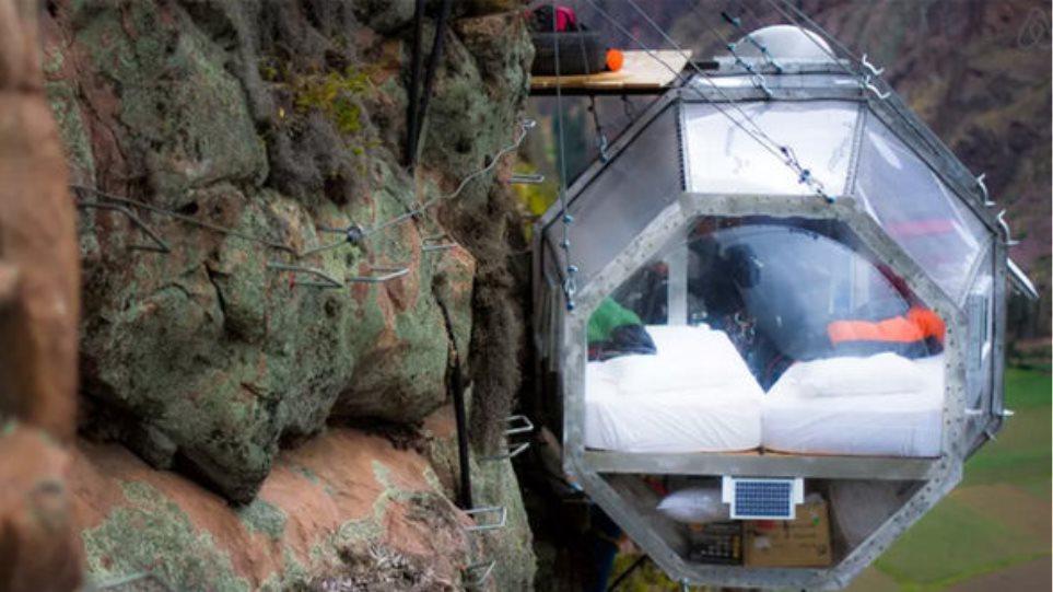 Skylodge Adventure Suites: Οι κρεμαστές σουίτες με θέα την κοιλάδα των Ίνκας