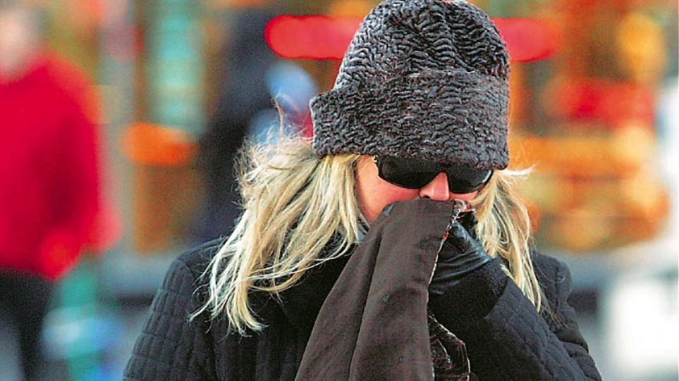 Με αραιές νεφώσεις και τσουχτερό κρύο ο καιρός σήμερα