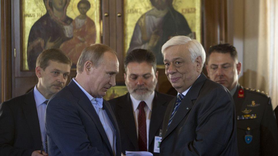 «Παρεξήγηση» μεταξύ μοναχών-Παυλόπουλου-Πούτιν