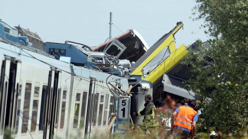 Με 100 χιλιόμετρα έτρεχαν τα τρένα που συγκρούστηκαν μετωπικά στην Ιταλία