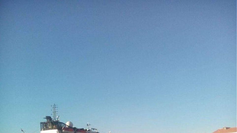 Κρουαζιερόπλοιο στην Αγία Μαρίνα της Λέρου