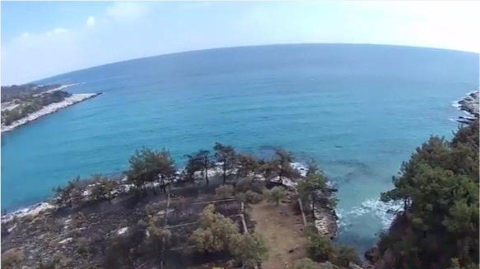 Τι άφησε πίσω της η πυρκαγιά στη Θάσο - Δείτε βίντεο από drone