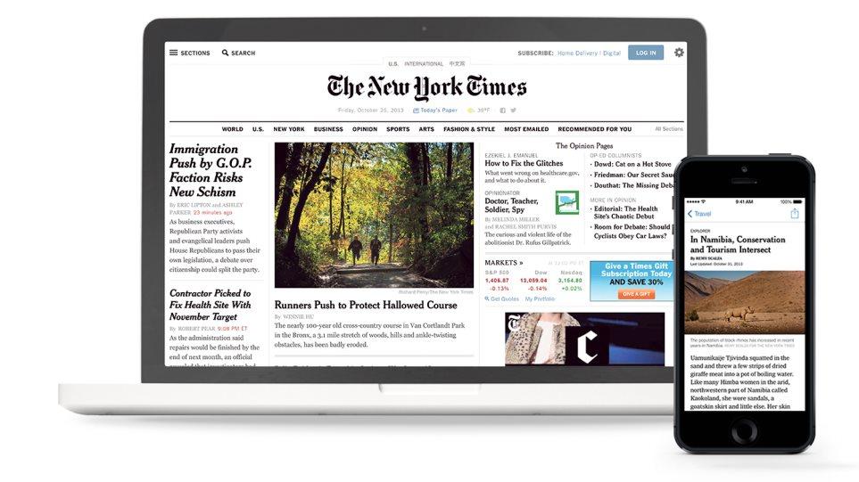 Κέρδη για τους New York Times εξαιτίας της ψηφιακής έκδοσης της εφημερίδας