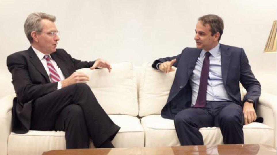 Συνάντηση του Κυριάκου Μητσοτάκη με τον πρέσβη των ΗΠΑ στην Ελλάδα