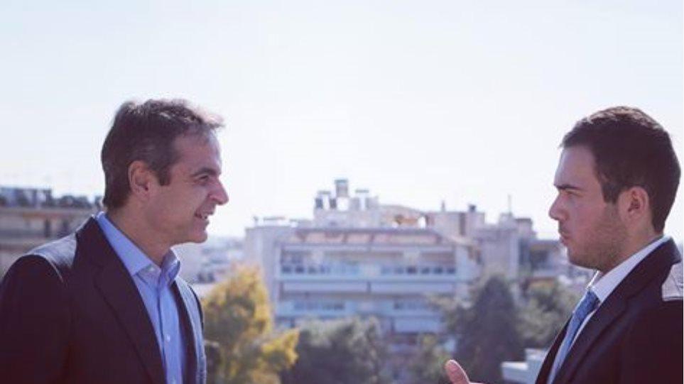 Συνάντηση Μητσοτάκη με τον Γιάννη Καραθανάση, γιο του ήρωα των Ιμίων