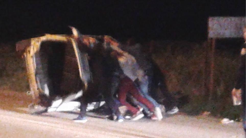 Ανετράπη ΙΧ στην οδό Ναυπλίου - Άργους ... Άγιο είχε ο οδηγός