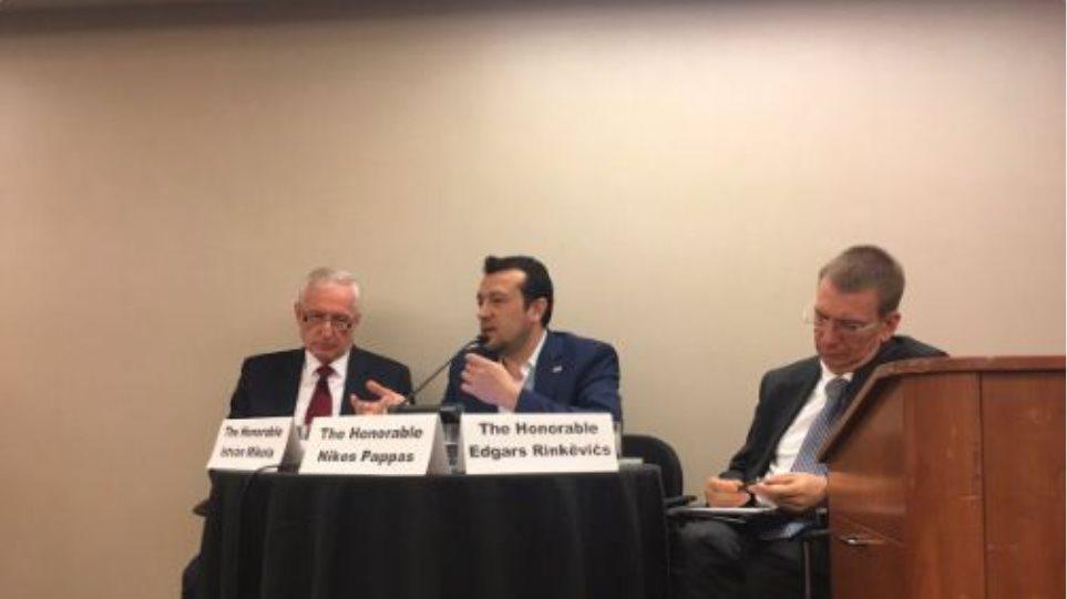 Παππάς από ΗΠΑ: Η Ελλάδα είναι αποφασισμένη να παίξει σταθεροποιητικό ρόλο στην περιοχή της