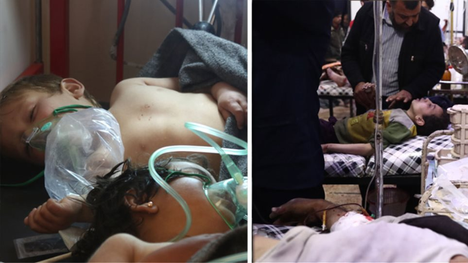 Φρίκη στη Συρία με 100 νεκρούς από χημικά - Βομβάρδισαν και το νοσοκομείο