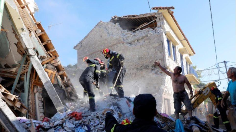 5c303d958f Φονικός σεισμός στη Λέσβο  Μια νεκρή