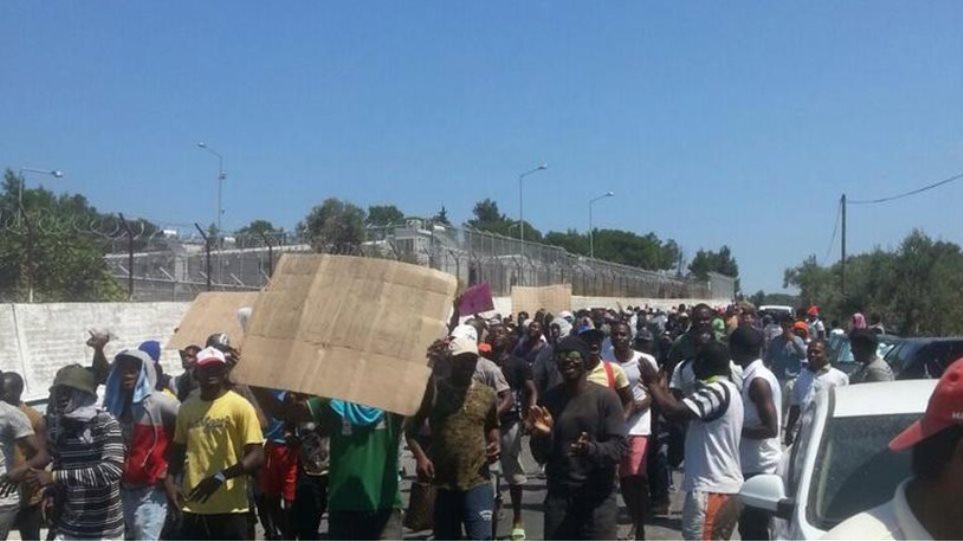Μυτιλήνη: Διαμαρτυρίες οργανώσεων για την κατάσταση των προσφύγων στα νησιά