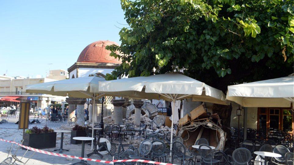 Βομβαρδισμένο τοπίο η Κως μετά τον φονικό σεισμό