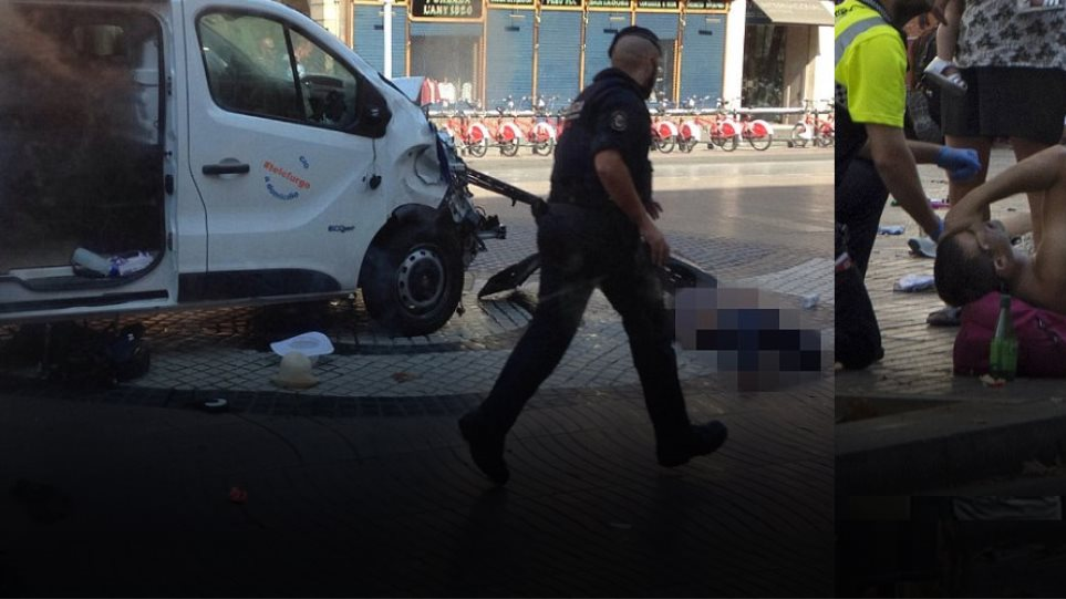 Φορτηγάκι έπεσε σε πεζούς στην Ράμπλας στη Βαρκελώνη: 13 νεκροί, 80 τραυματίες - Μία Ελληνίδα