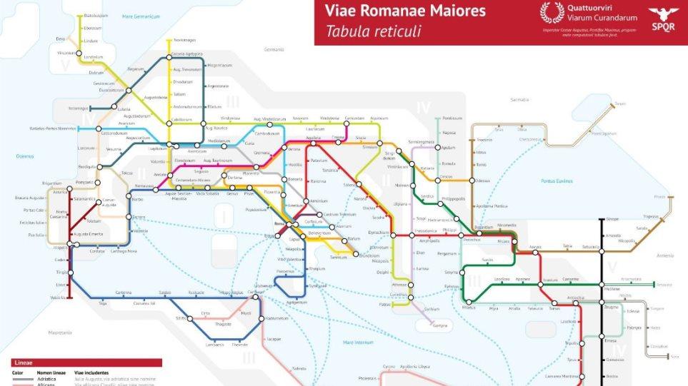 Apisteytos Xarths Oi Dromoi Ths Arxaias Rwmhs Ws Staseis Toy Metro