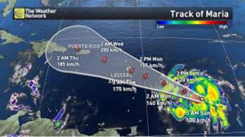 ΗΠΑ: Η τροπική καταιγίδα «Μαρία» ενισχύθηκε σε κυκλώνα