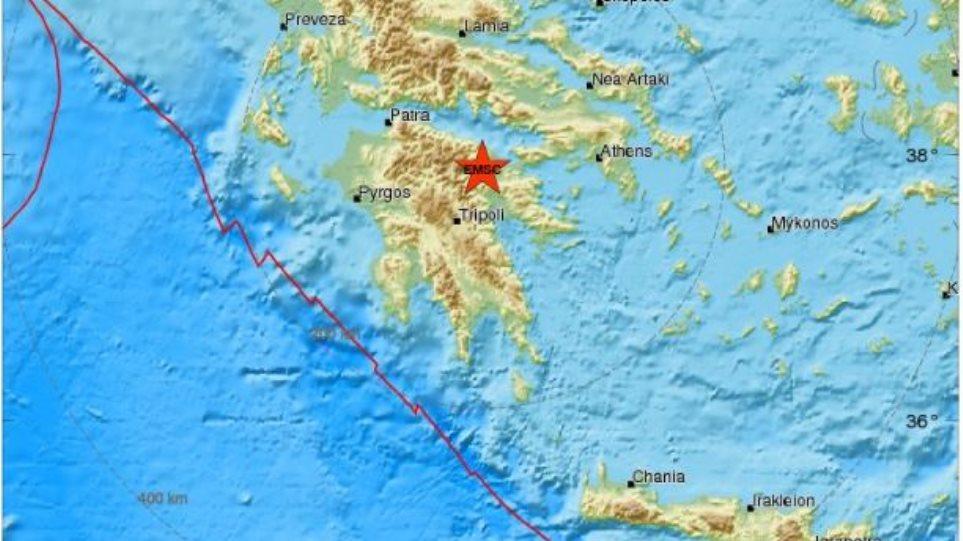 Σεισμός 3,8 Ρίχτερ βορειοδυτικά της Νεμέας