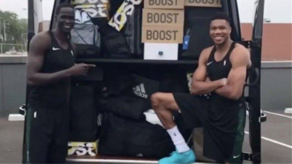 Η Adidas έστειλε φορτηγό γεμάτο παπούτσια στον Γιάννη για να τον κάνει δικό της! (vid)