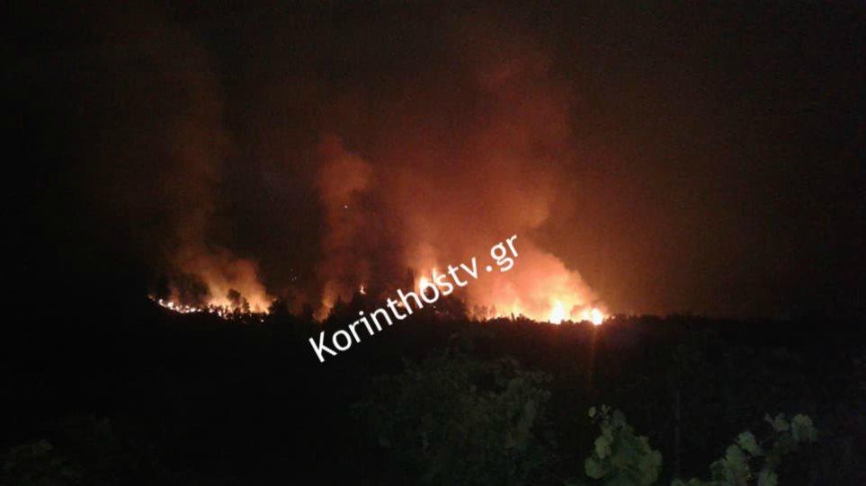 Ανεξέλεγκτη η φωτιά στο Κούτσι Νεμέας