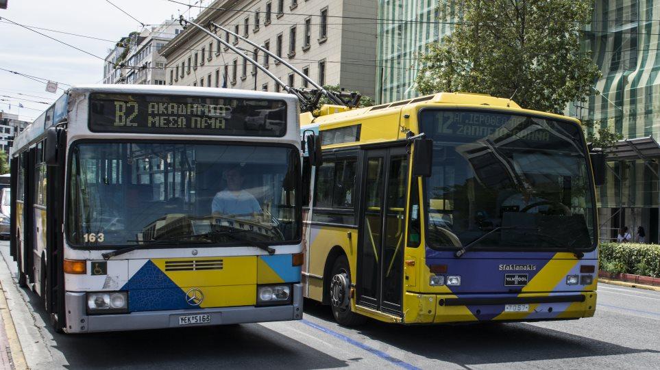 Χωρίς λεωφορεία και τρόλεϊ σήμερα η Αθήνα από τις 11.00 έως τις 17.00