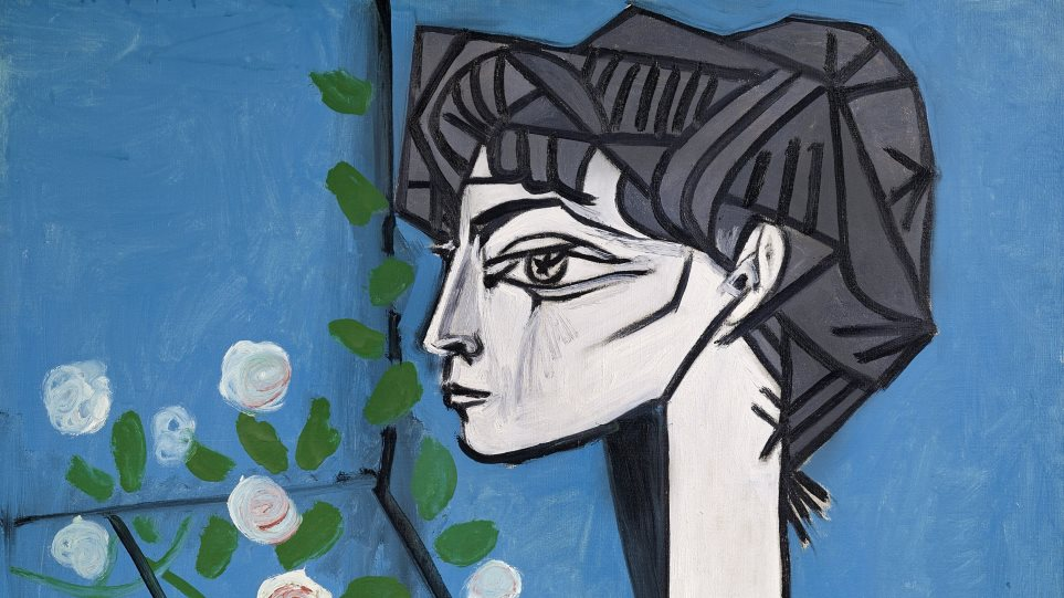 Jacqueline_with_Flowers_paiting_by_Picasso