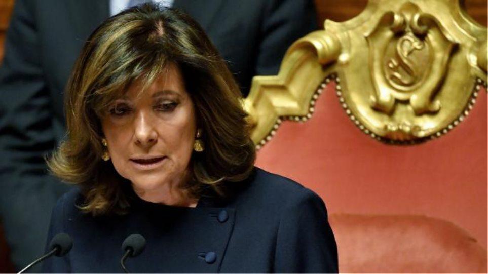 Η πρόεδρος της ιταλικής γερουσίας παίρνει εντολή σχηματισμού κυβέρνησης