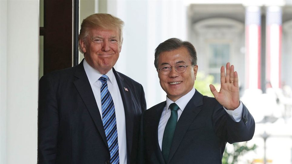 Ο πρόεδρος της Νότιας Κορέας πρότεινε τον Τραμπ για Νόμπελ Ειρήνης!