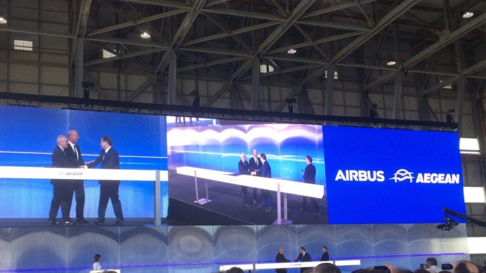 Aegean: Υπεγράφη η συμφωνία-μαμούθ για την παραγγελία έως 42 αεροσκαφών από την Airbus