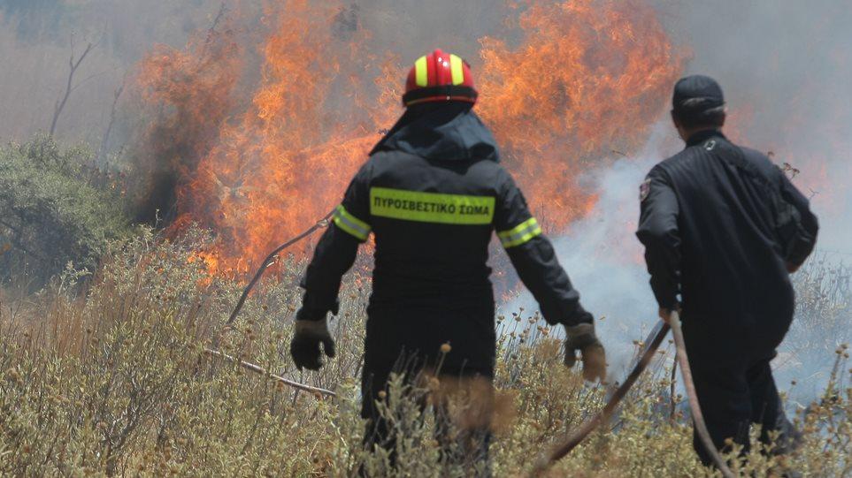 Μεγάλη φωτιά στα Χανιά - Εκκενώθηκε το χωριό Σπίνα