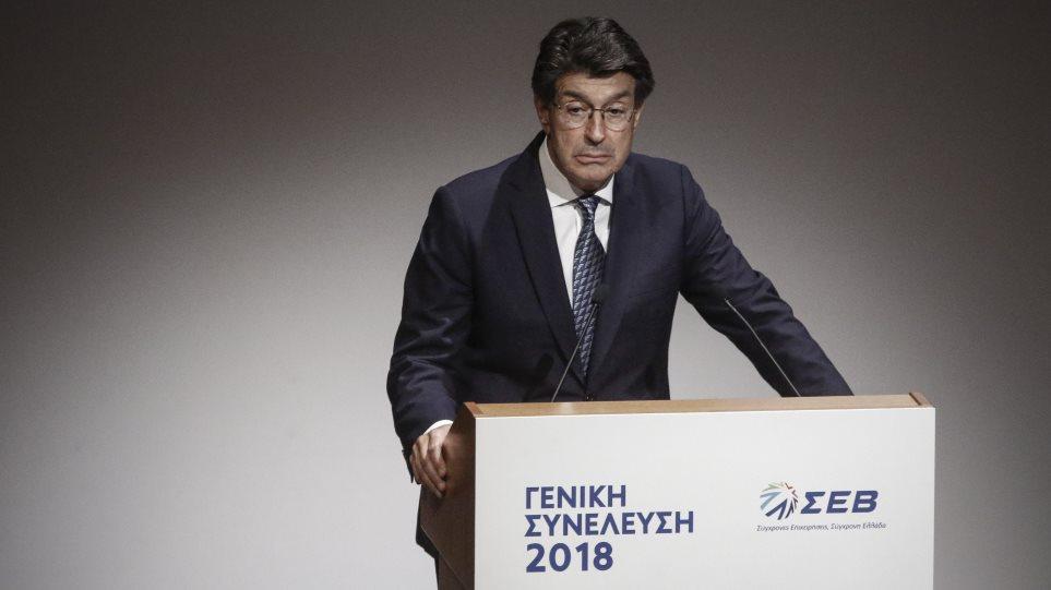 Πρόεδρος ΣΕΒ: Η κυβέρνηση νομοθετεί κατά τρόπο που αποθαρρύνει τους επενδυτές
