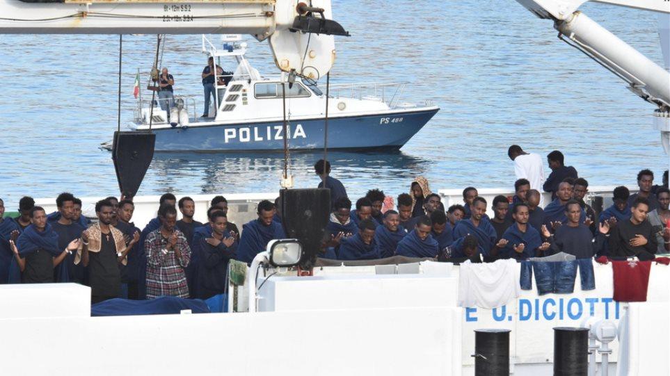 Iταλία: Απεργία πείνας ξεκίνησαν εγκλωβισμένοι μετανάστες στο πλοίο Diciotti