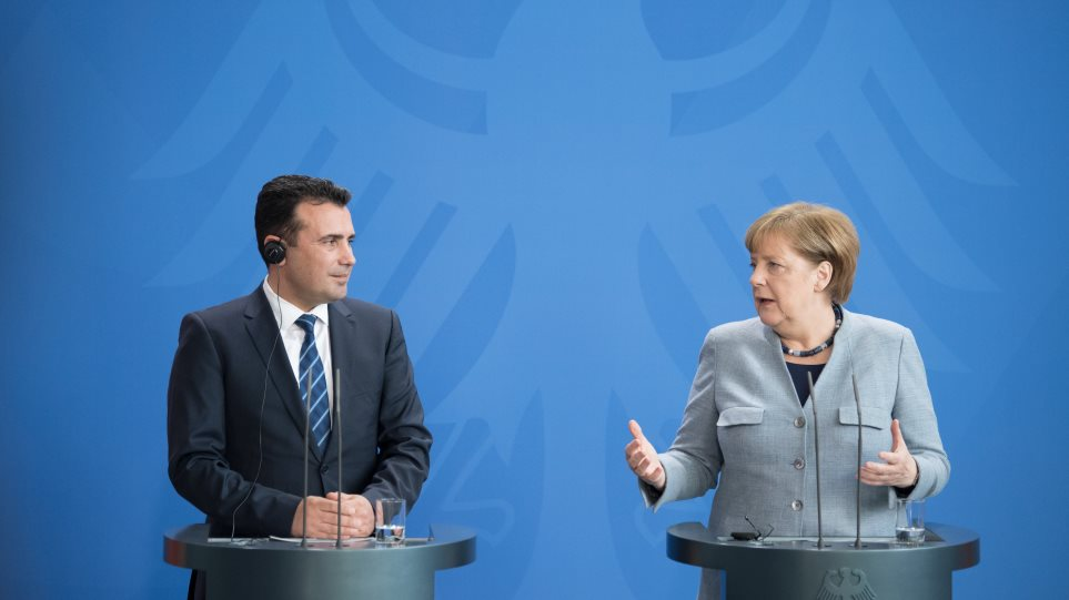 Μέρκελ σε Ζάεφ: Καλωσορίζω στο Βερολίνο τον Μακεδόνα πρωθυπουργό