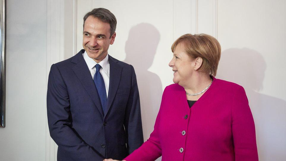 Bildergebnis für Μερκελ και Μητσοτακης στην αθηνα