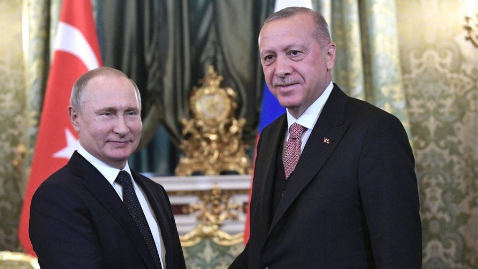 Συνάντηση Πούτιν - Ερντογάν: «Έχουμε μεγάλη συνεργασία στον τομέα των διεθνών σχέσεων»