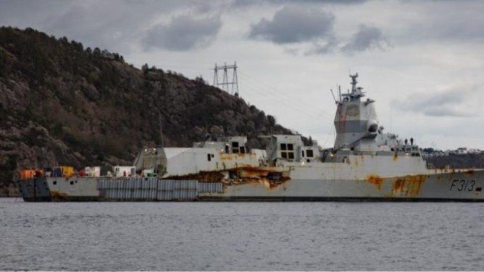 Ανελκύστηκε η νορβηγική φρεγάτα που ήταν στον βυθό για 3 μήνες