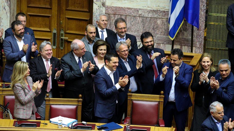 Με 153 «ΝΑΙ» η κυβέρνηση πήρε ψήφο εμπιστοσύνης από τη Βουλή