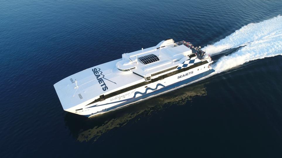WorldChampion Jet: Η Seajets εγκαινίασε το πλοίο που μπήκε στα ρεκόρ Γκίνες