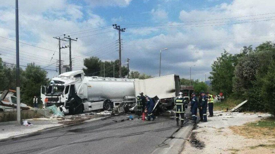 Ανοιχτός ο δρόμος στην Κορωπίου-Μαρκοπούλου μετά το θανατηφόρο τροχαίο με βυτιοφόρο
