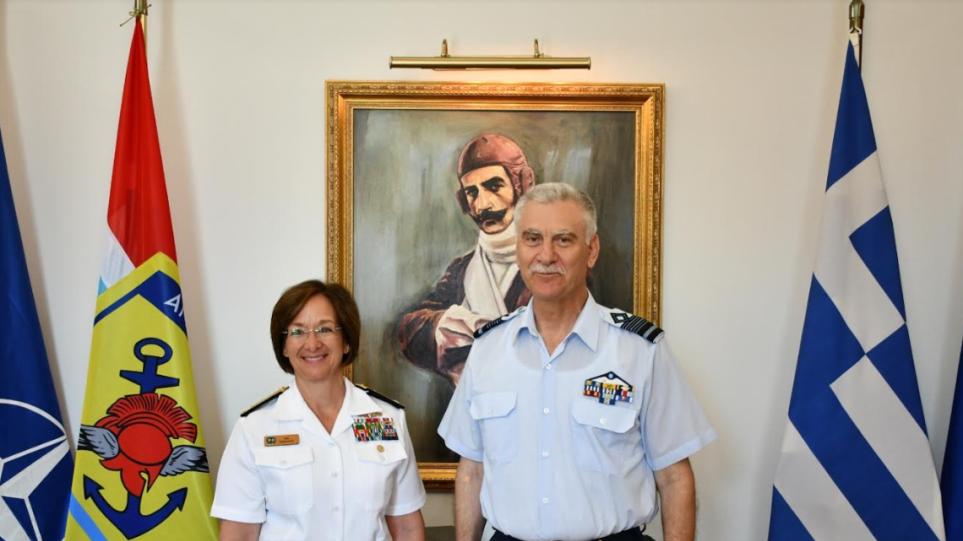 Στην Ελλάδα η διοικητής του 6ου Στόλου των ΗΠΑ