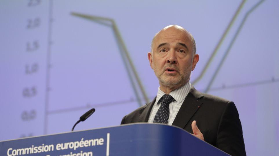 Ανάπτυξη 2,1% το 2019 και 2,2% για το 2020 προβλέπει η Κομισιόν για την Ελλάδα