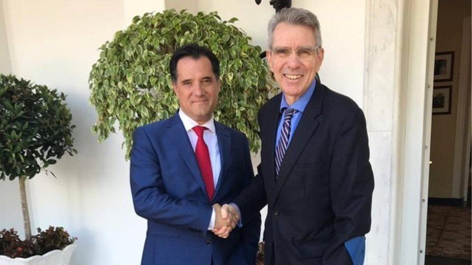 Συνάντηση Γεωργιάδη - Πάιατ για τις εκκρεμείς επενδύσεις των ΗΠΑ στην Ελλάδα