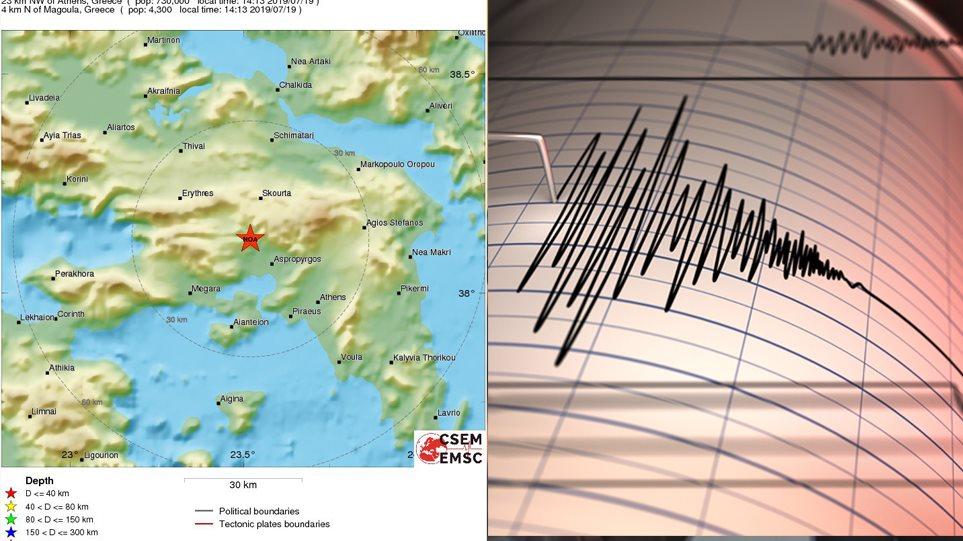 Ισχυρή σεισμική δόνηση 5,3 Ρίχτερ σημειώθηκε στην Αττική