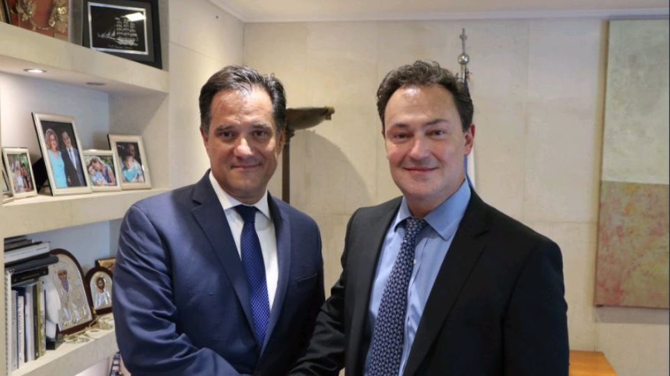 Συνάντηση Άδωνι Γεωργιάδη με τον δευθύνοντα σύμβουλο της Lamda Development για το Ελληνικό