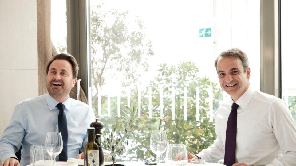 Συνάντηση Μητσοτάκη με τον πρωθυπουργό του Λουξεμβούργου