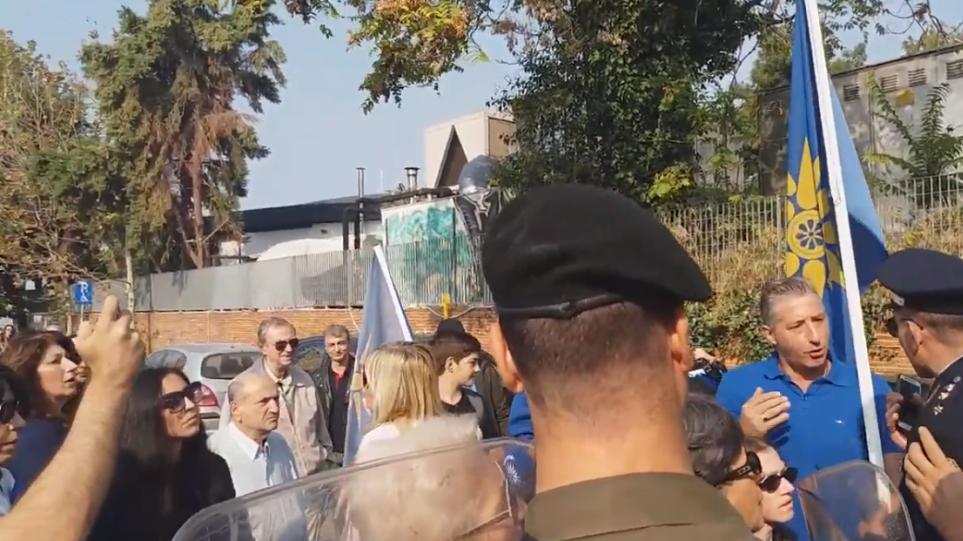 Θεσσαλονίκη: Ένταση πριν την παρέλαση σε συγκέντρωση για Κατσίφα και Πρέσπες