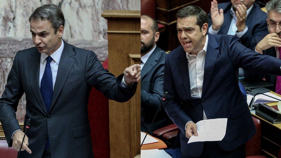 Καβγάς στη Βουλή- Μητσοτάκης: Μια φορά ψεύτης, πάντα ψεύτης, Τσίπρας: Θα φέρω πρακτικά, θα αναιρέσετε